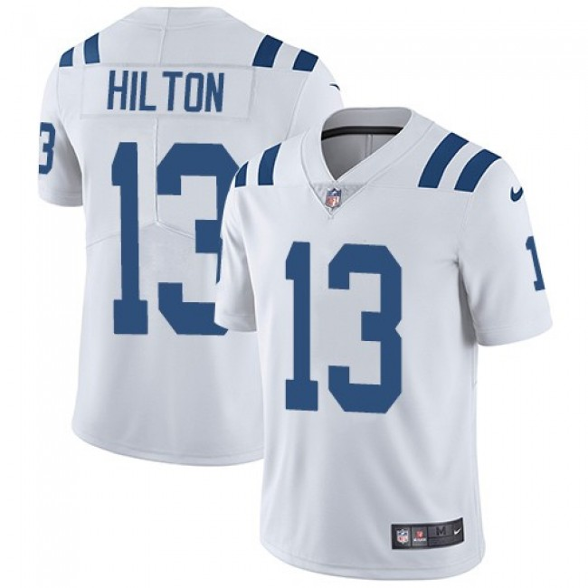 Nike Colts #13 T.Y. Hilton White Men's Stitched NFL Vapor Untouchable Limited Jersey