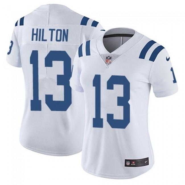 Women's Colts #13 T.Y. Hilton White Stitched NFL Vapor Untouchable Limited Jersey