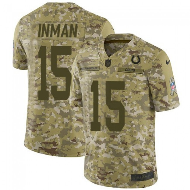 Nike Colts #15 Dontrelle Inman Camo Men's Stitched NFL Limited 2018 Salute To Service Jersey