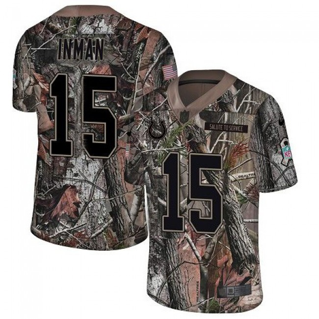 Nike Colts #15 Dontrelle Inman Camo Men's Stitched NFL Limited Rush Realtree Jersey