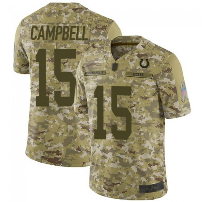 Nike Colts #15 Parris Campbell Camo Men's Stitched NFL Limited 2018 Salute To Service Jersey