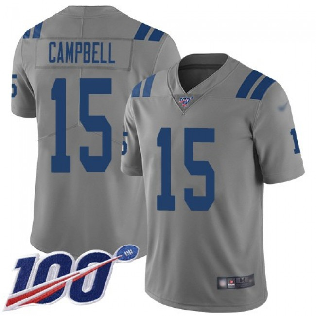 Nike Colts #15 Parris Campbell Gray Men's Stitched NFL Limited Inverted Legend 100th Season Jersey