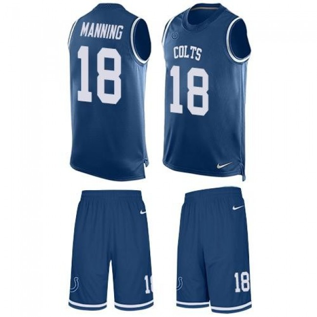 Nike Colts #18 Peyton Manning Royal Blue Team Color Men's Stitched NFL Limited Tank Top Suit Jersey