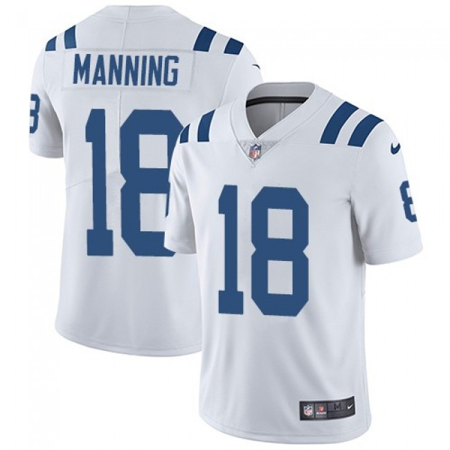 Nike Colts #18 Peyton Manning White Men's Stitched NFL Vapor Untouchable Limited Jersey