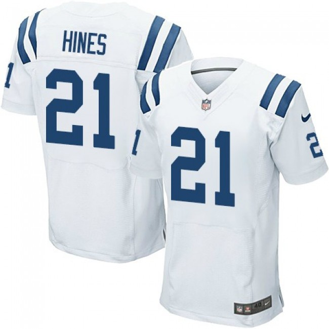 Nike Colts #21 Nyheim Hines White Men's Stitched NFL Elite Jersey