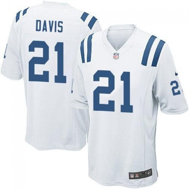 Indianapolis Colts #21 Vontae Davis White Youth Stitched NFL Elite Jersey