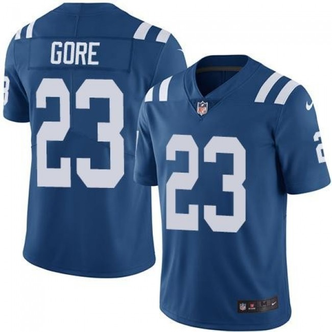 Indianapolis Colts #23 Frank Gore Royal Blue Team Color Youth Stitched NFL Vapor Untouchable Limited Jersey