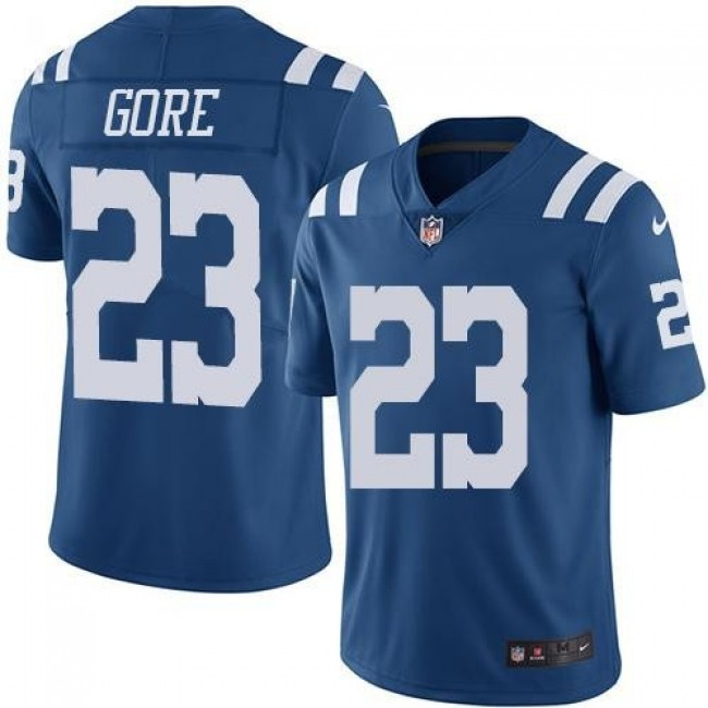 Indianapolis Colts #23 Frank Gore Royal Blue Youth Stitched NFL Limited Rush Jersey