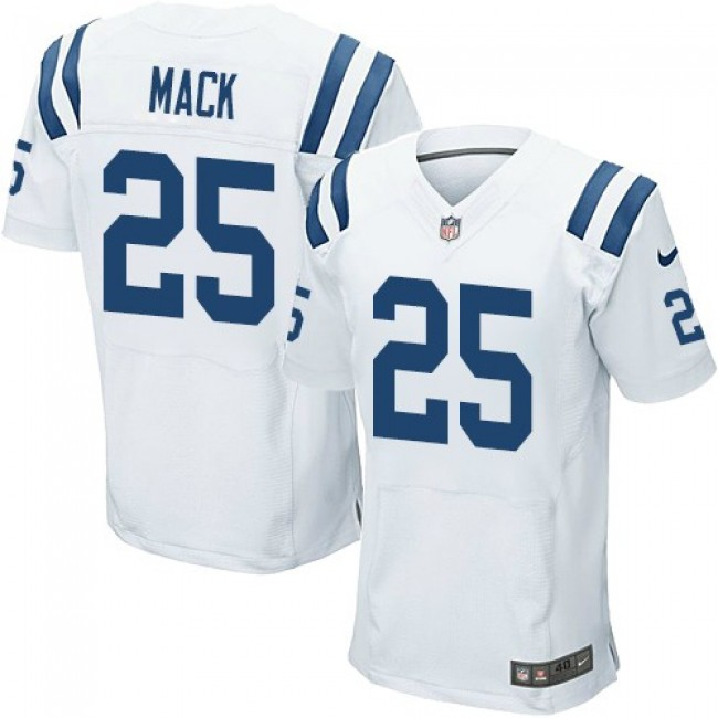 Nike Colts #25 Marlon Mack White Men's Stitched NFL Elite Jersey