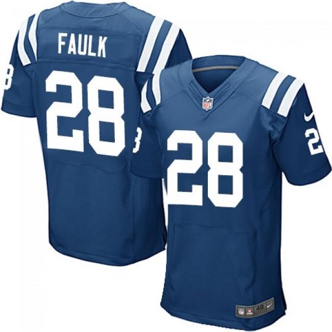Nike Colts #28 Marshall Faulk Royal Blue Team Color Men's Stitched NFL Elite Jersey