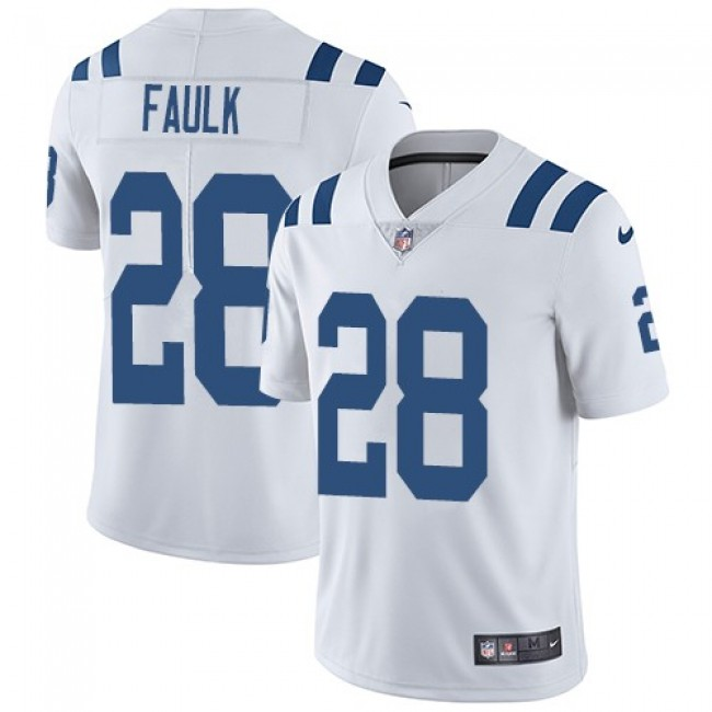 Nike Colts #28 Marshall Faulk White Men's Stitched NFL Vapor Untouchable Limited Jersey