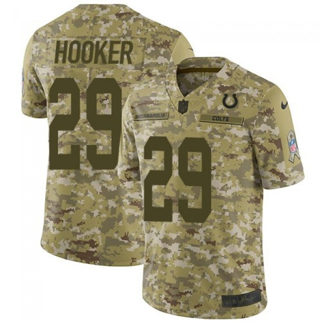 Nike Colts #29 Malik Hooker Camo Men's Stitched NFL Limited 2018 Salute To Service Jersey