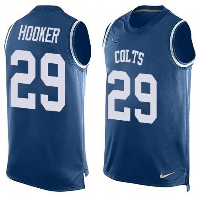 Nike Colts #29 Malik Hooker Royal Blue Team Color Men's Stitched NFL Limited Tank Top Jersey