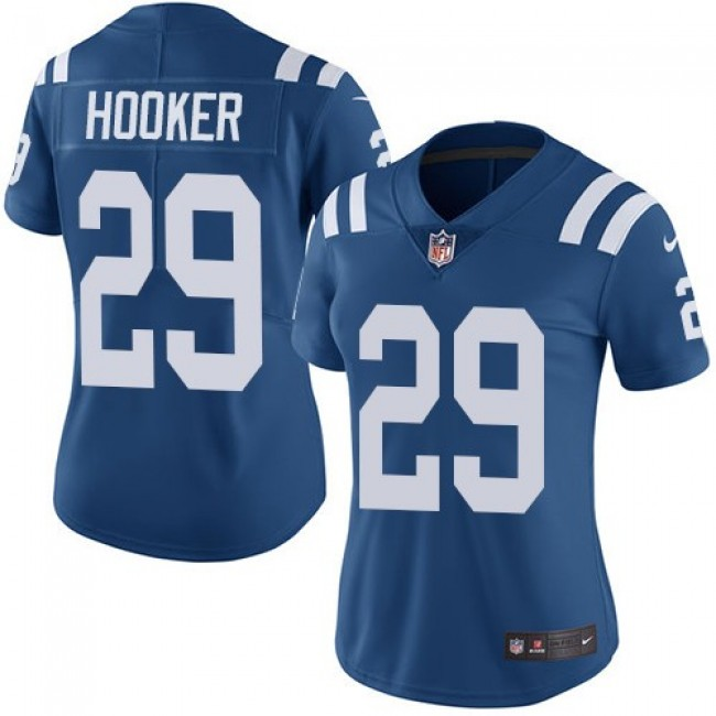 Women's Colts #29 Malik Hooker Royal Blue Team Color Stitched NFL Vapor Untouchable Limited Jersey