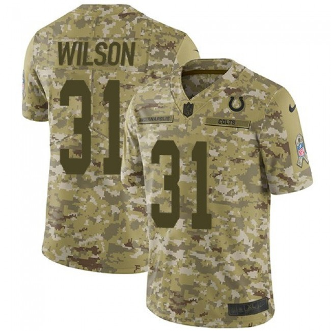 Nike Colts #31 Quincy Wilson Camo Men's Stitched NFL Limited 2018 Salute To Service Jersey