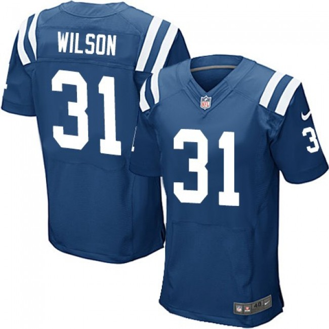 Nike Colts #31 Quincy Wilson Royal Blue Team Color Men's Stitched NFL Elite Jersey