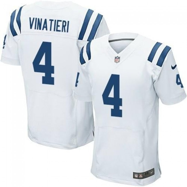 Nike Colts #4 Adam Vinatieri White Men's Stitched NFL Elite Jersey