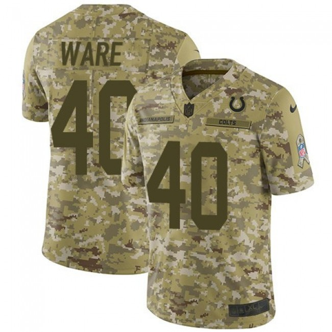 Nike Colts #40 Spencer Ware Camo Men's Stitched NFL Limited 2018 Salute To Service Jersey