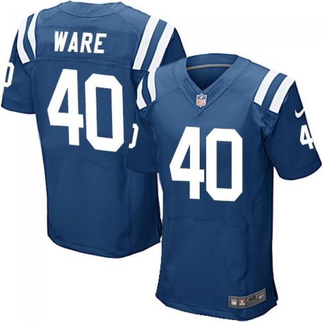 Nike Colts #40 Spencer Ware Royal Blue Team Color Men's Stitched NFL Elite Jersey