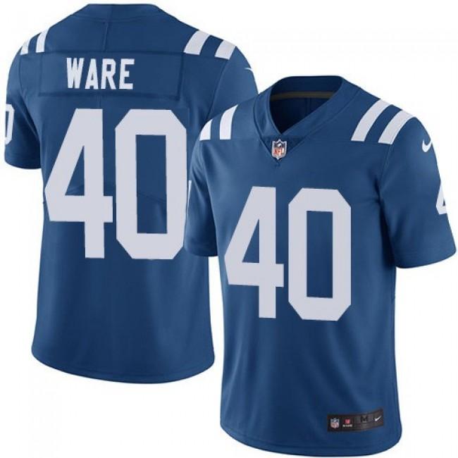 Nike Colts #40 Spencer Ware Royal Blue Team Color Men's Stitched NFL Vapor Untouchable Limited Jersey