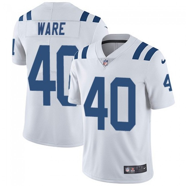 Nike Colts #40 Spencer Ware White Men's Stitched NFL Vapor Untouchable Limited Jersey