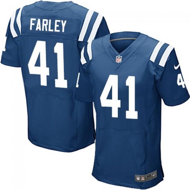 Nike Colts #41 Matthias Farley Royal Blue Team Color Men's Stitched NFL Elite Jersey