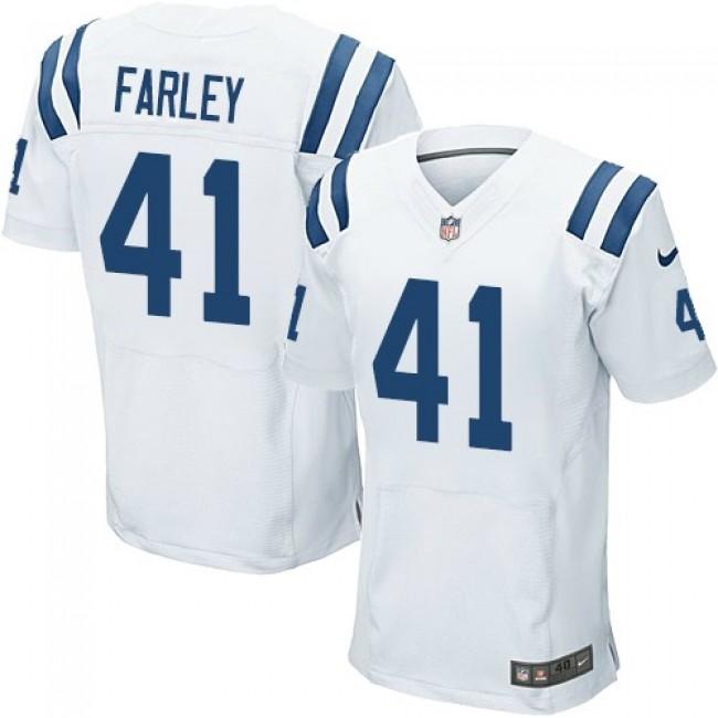 Nike Colts #41 Matthias Farley White Men's Stitched NFL Elite Jersey