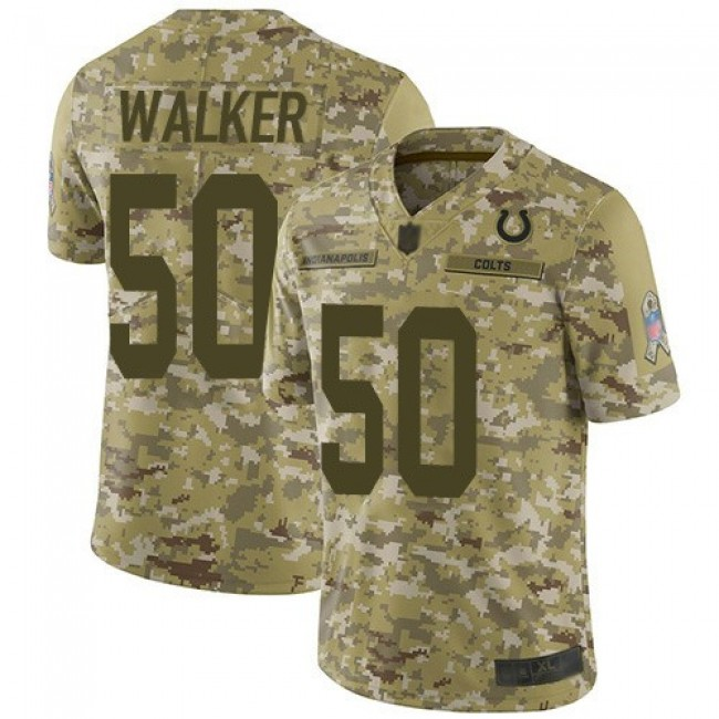 Nike Colts #50 Anthony Walker Camo Men's Stitched NFL Limited 2018 Salute To Service Jersey
