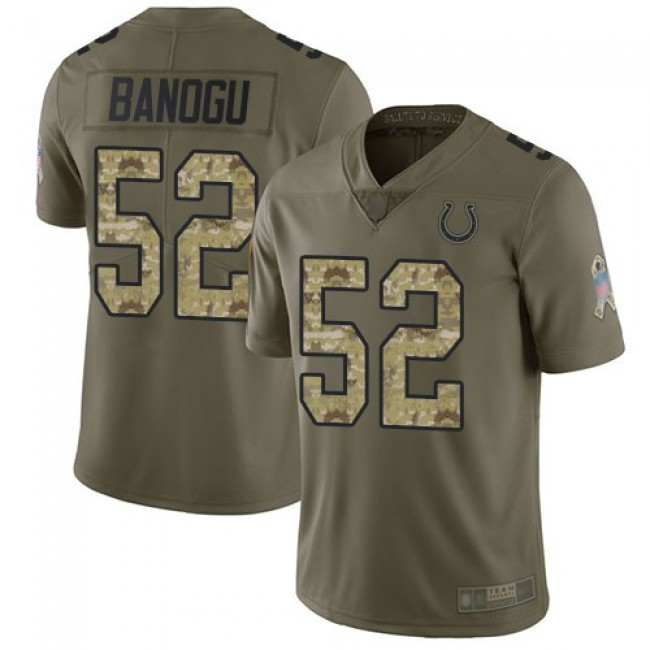 Nike Colts #52 Ben Banogu Olive/Camo Men's Stitched NFL Limited 2017 Salute To Service Jersey