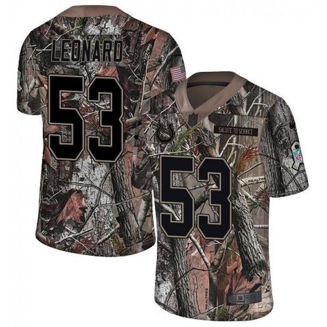 Nike Colts #53 Darius Leonard Camo Men's Stitched NFL Limited Rush Realtree Jersey