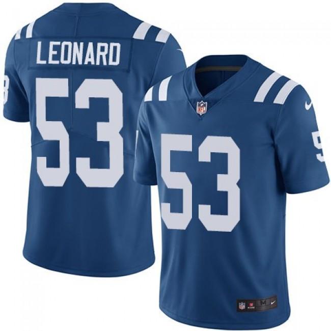 Nike Colts #53 Darius Leonard Royal Blue Team Color Men's Stitched NFL Vapor Untouchable Limited Jersey