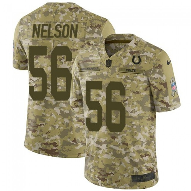 Nike Colts #56 Quenton Nelson Camo Men's Stitched NFL Limited 2018 Salute To Service Jersey