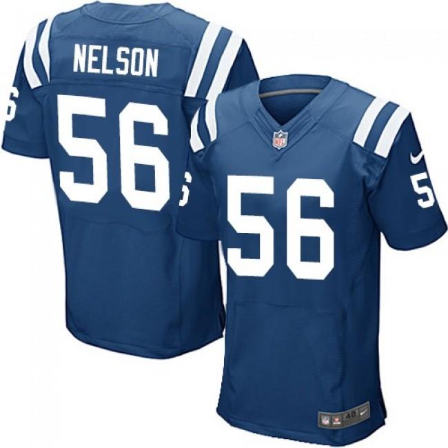 Nike Colts #56 Quenton Nelson Royal Blue Team Color Men's Stitched NFL Elite Jersey