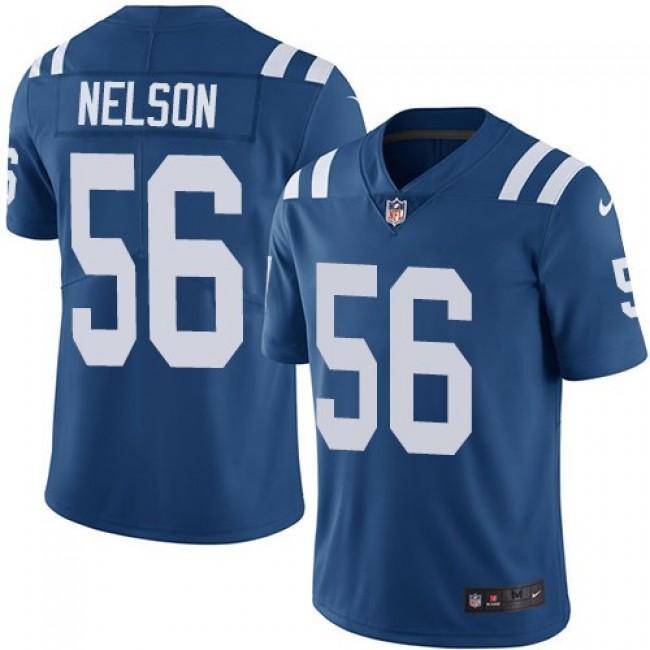Nike Colts #56 Quenton Nelson Royal Blue Team Color Men's Stitched NFL Vapor Untouchable Limited Jersey