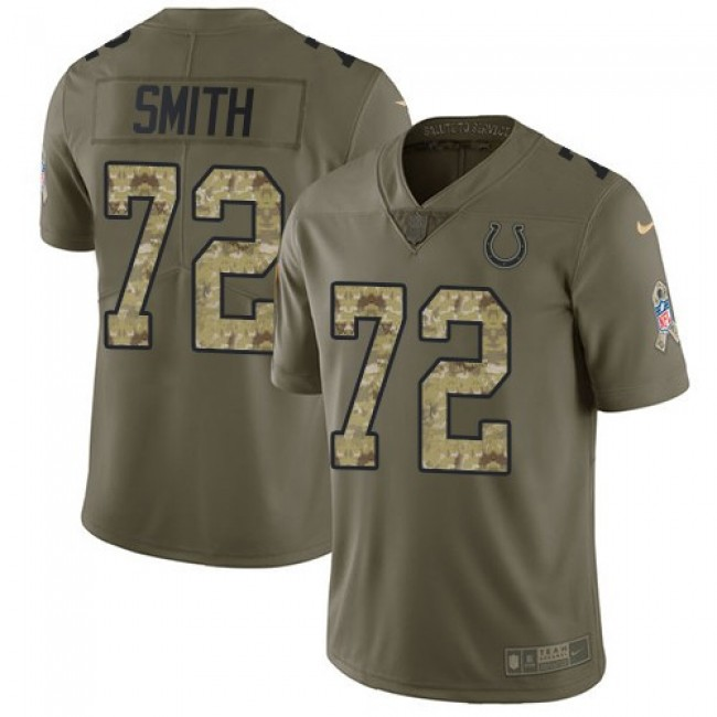 Nike Colts #72 Braden Smith Olive/Camo Men's Stitched NFL Limited 2017 Salute to Service Jersey