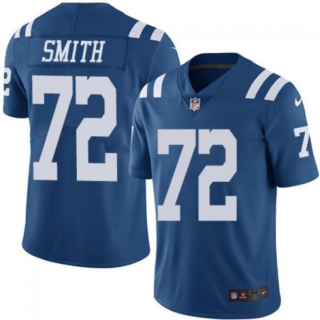 Nike Colts #72 Braden Smith Royal Blue Men's Stitched NFL Limited Rush Jersey