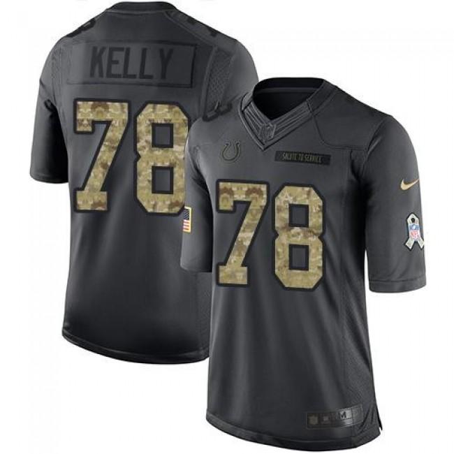 Nike Colts #78 Ryan Kelly Black Men's Stitched NFL Limited 2016 Salute to Service Jersey