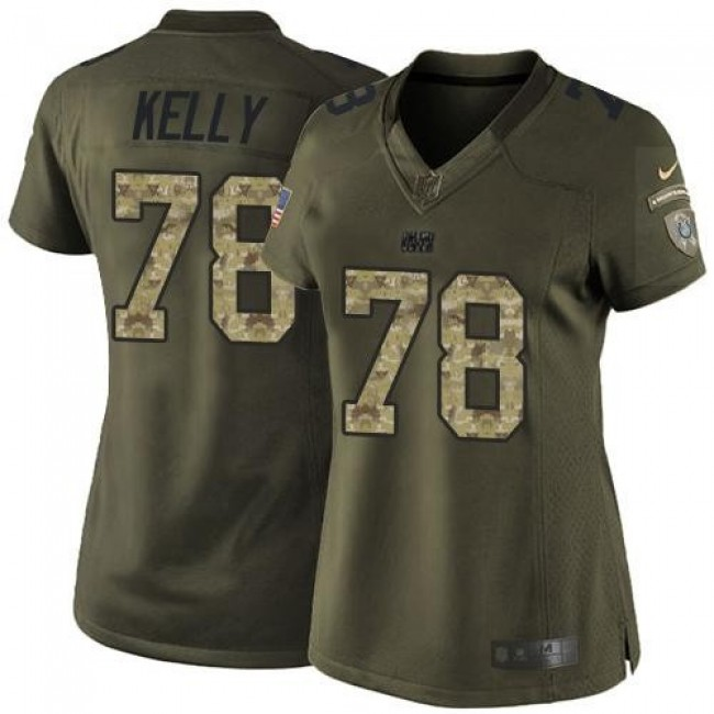 Women's Colts #78 Ryan Kelly Green Stitched NFL Limited Salute to Service Jersey