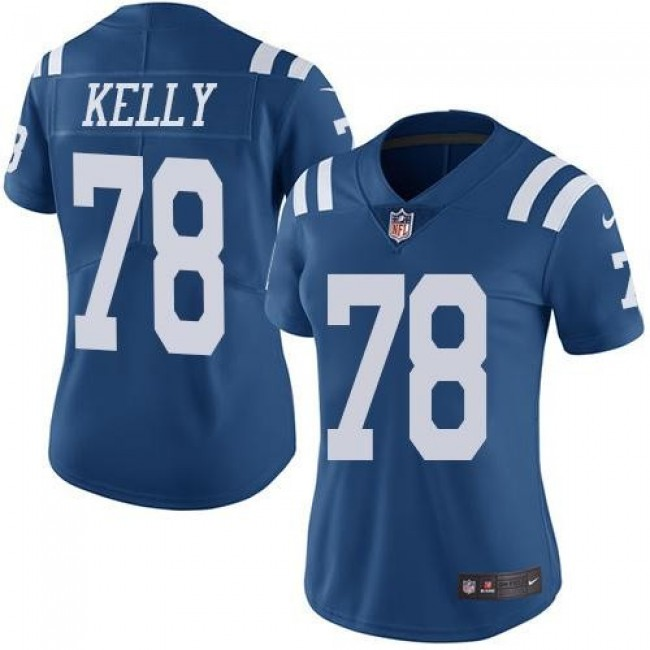 Women's Colts #78 Ryan Kelly Royal Blue Stitched NFL Limited Rush Jersey