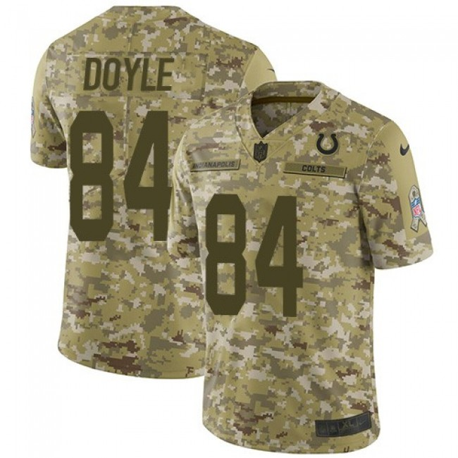 Nike Colts #84 Jack Doyle Camo Men's Stitched NFL Limited 2018 Salute To Service Jersey
