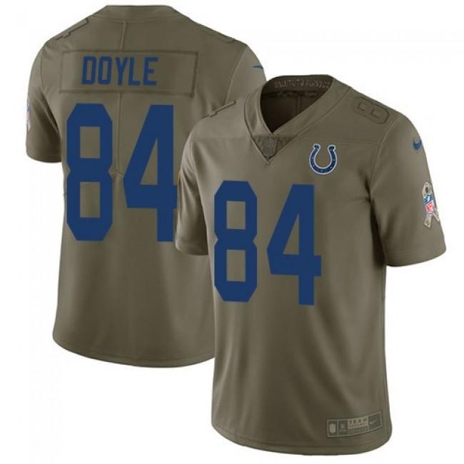 Nike Colts #84 Jack Doyle Olive Men's Stitched NFL Limited 2017 Salute To Service Jersey