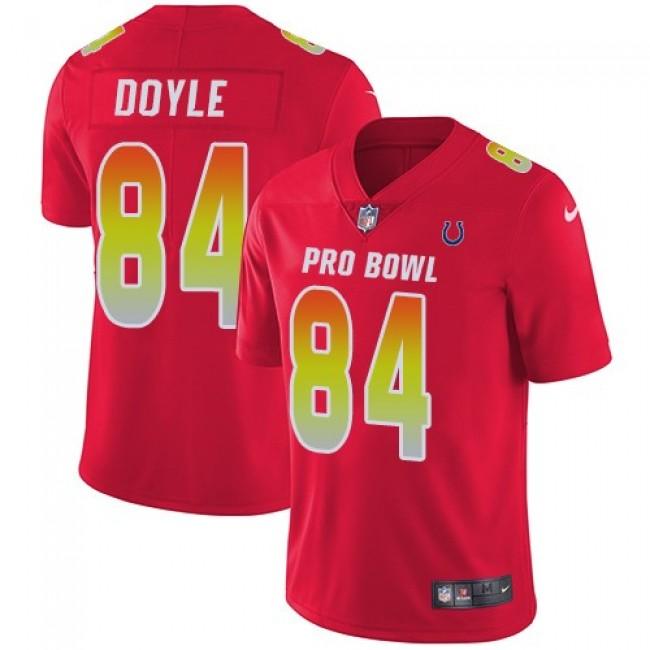 Nike Colts #84 Jack Doyle Red Men's Stitched NFL Limited AFC 2018 Pro Bowl Jersey