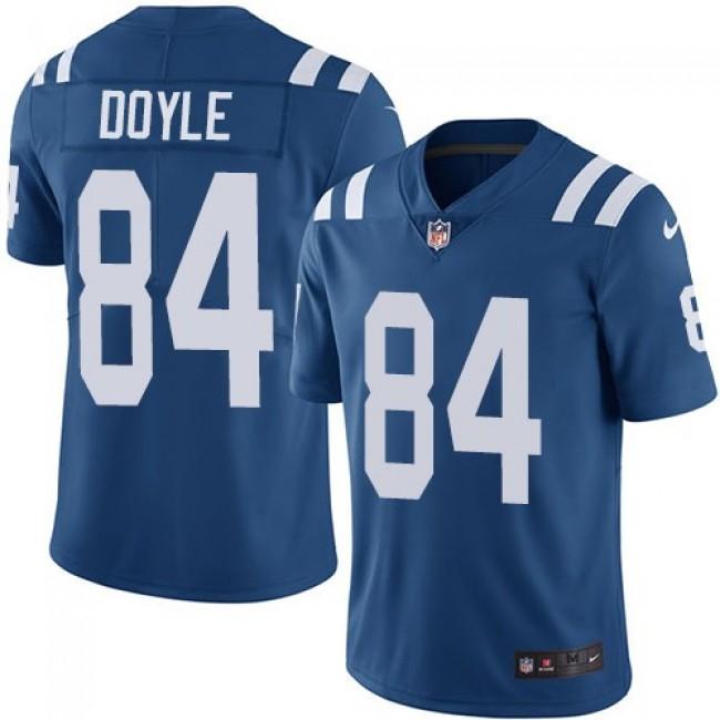 Nike Colts #84 Jack Doyle Royal Blue Team Color Men's Stitched NFL Vapor Untouchable Limited Jersey