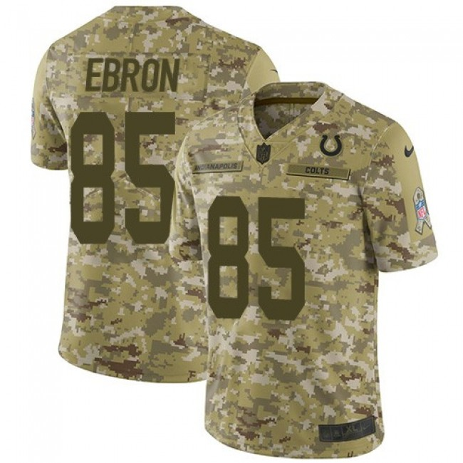 Nike Colts #85 Eric Ebron Camo Men's Stitched NFL Limited 2018 Salute To Service Jersey