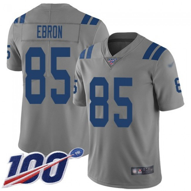 Nike Colts #85 Eric Ebron Gray Men's Stitched NFL Limited Inverted Legend 100th Season Jersey