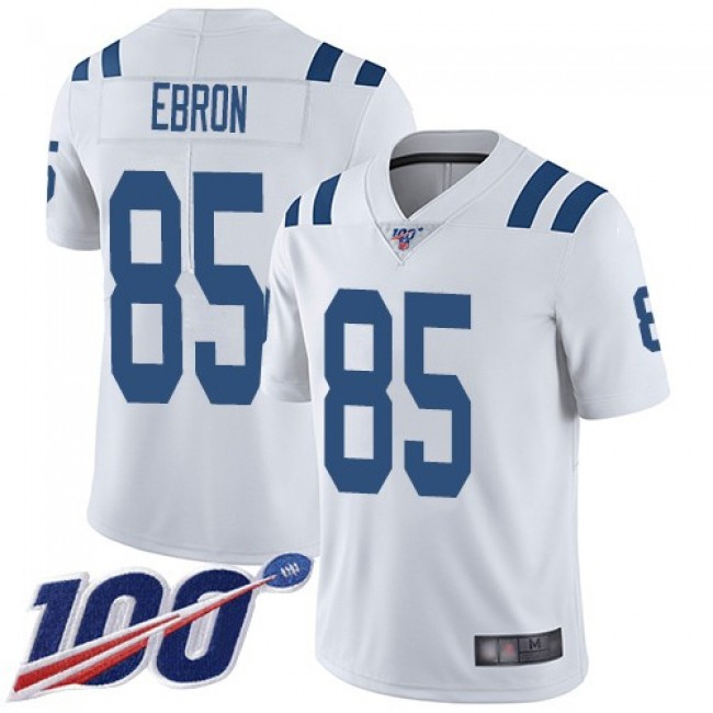Nike Colts #85 Eric Ebron White Men's Stitched NFL 100th Season Vapor Limited Jersey