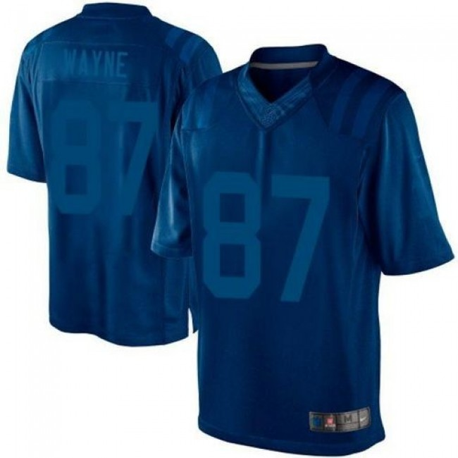 Nike Colts #87 Reggie Wayne Royal Blue Men's Stitched NFL Drenched Limited Jersey