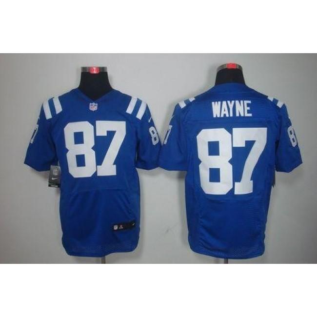 Nike Colts #87 Reggie Wayne Royal Blue Team Color Men's Stitched NFL Elite Jersey
