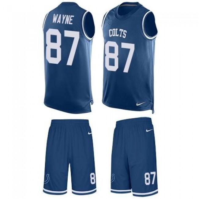 Nike Colts #87 Reggie Wayne Royal Blue Team Color Men's Stitched NFL Limited Tank Top Suit Jersey