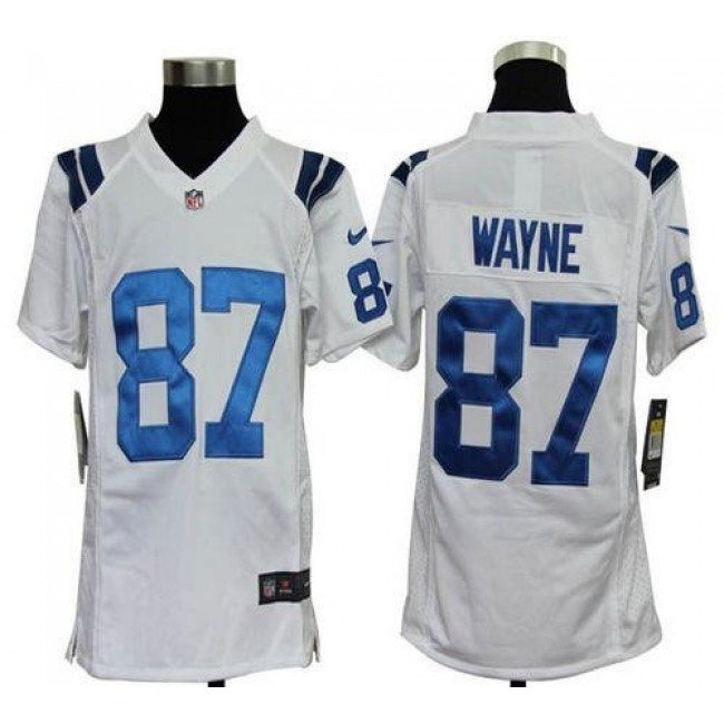 Indianapolis Colts #87 Reggie Wayne White Youth Stitched NFL Elite Jersey